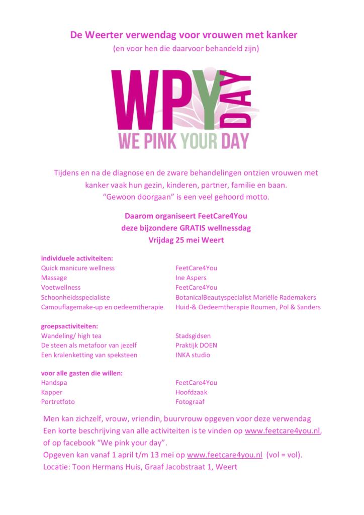 Info We Pink Your Day Toon Hermanshuis Weert