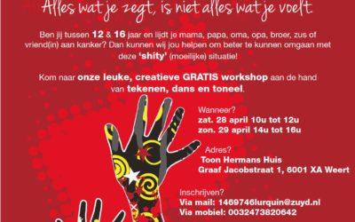 28 en 29 apr. Creatieve gratis workshop voor jongeren